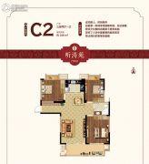 荣盛鹭岛荣府3室2厅1卫108平方米户型图