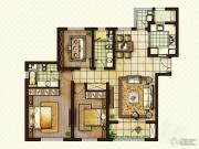 红星国际3室2厅2卫132平方米户型图