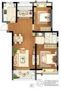 信达蓝尊2室1厅1卫0平方米户型图