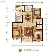 众美凤凰府3室2厅2卫138平方米户型图