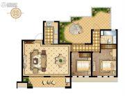 万科维园2室2厅1卫104平方米户型图