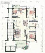 金都花园4室2厅3卫174平方米户型图
