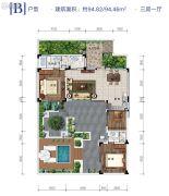 雅居乐原乡3室1厅0卫94平方米户型图