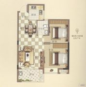 霞浦安大名城2室2厅1卫70平方米户型图