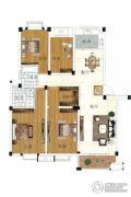 水岸帝景 多层3室2厅1卫136平方米户型图