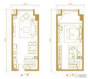 金鹰天地广场1室1厅1卫53平方米户型图