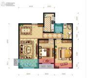 和众・曲江城阅2室2厅1卫90平方米户型图