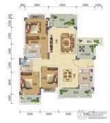 宏信依山郡3期3室2厅2卫143平方米户型图
