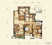 紫御江山3室2厅2卫0平方米户型图