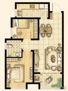 尚品燕园2室2厅1卫83平方米户型图