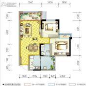 南湖凯旋广场2室2厅1卫70平方米户型图