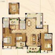 佳兆业君汇上品4室2厅3卫130平方米户型图