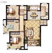 领秀琥珀澜湾3室2厅1卫0平方米户型图