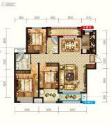 润德天悦城3室2厅2卫140平方米户型图