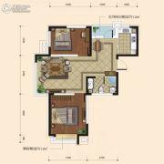 融城7英里2室2厅1卫78平方米户型图