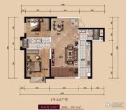 中广宜景湾・尚城2室2厅2卫106平方米户型图