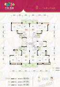 中澳春城3室2厅1卫68--91平方米户型图