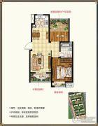 锡北新街口2室2厅1卫81平方米户型图