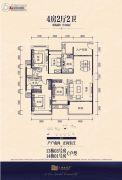 保利达・江湾南岸4室2厅2卫150平方米户型图