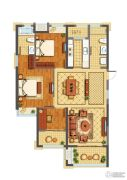 公元世家3室2厅2卫115平方米户型图