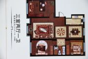香格里拉花园3室2厅1卫121平方米户型图