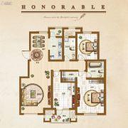 �锦世家3室2厅2卫135平方米户型图