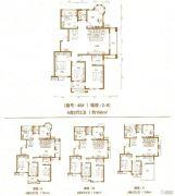 棠悦4室2厅2卫148--156平方米户型图