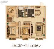 万达城3室2厅1卫0平方米户型图