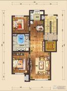 国信南山2室2厅1卫105平方米户型图