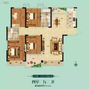 阳光福园4室2厅2卫143平方米户型图