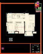 余之城3室2厅1卫89平方米户型图