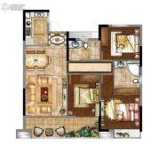 富力金禧悦城3室2厅2卫0平方米户型图