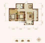 龙城帝景3室2厅2卫119平方米户型图