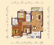 恒大御府3室2厅2卫113平方米户型图