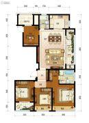 保利融信大国�Z4室2厅2卫139平方米户型图