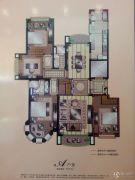 湖畔壹号4室2厅2卫169平方米户型图