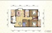 尚城名门3室2厅1卫101平方米户型图