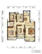 光明・褐石公元4室2厅1卫115平方米户型图