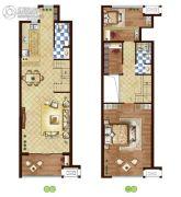 万和春天商业中心2室2厅2卫0平方米户型图
