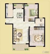 中汉财富湾2室2厅1卫97平方米户型图