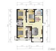 紫林湾3室2厅2卫129平方米户型图