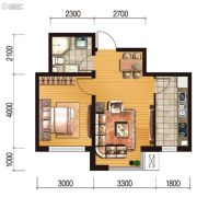 世百居・洪湖湾1室1厅1卫52平方米户型图