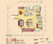雅晟乾城3室2厅2卫134平方米户型图
