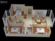 永富御景城3室2厅2卫126平方米户型图