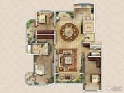 九英里颢苑3室2厅2卫221平方米户型图