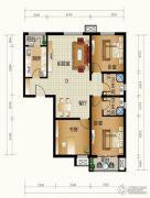 天和嘉园3室2厅2卫121平方米户型图