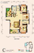 天鸿中央大院4室2厅2卫117平方米户型图
