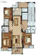 康桥香溪郡3室2厅2卫142平方米户型图