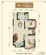 汉江新城2室2厅1卫0平方米户型图