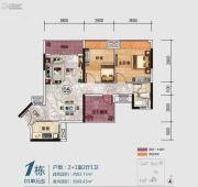 三水冠军城2室2厅1卫83平方米户型图
